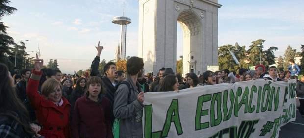 Protesta de estudiantes universitarios