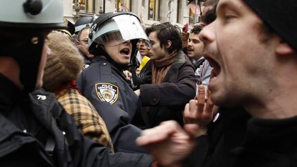 Protestas en Wall Street
