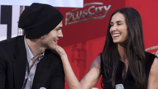 Deemi Moore y Ashton Kutcher.