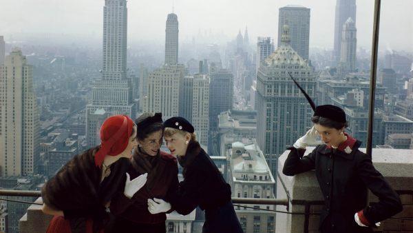 'NYC Skyline with Hats'