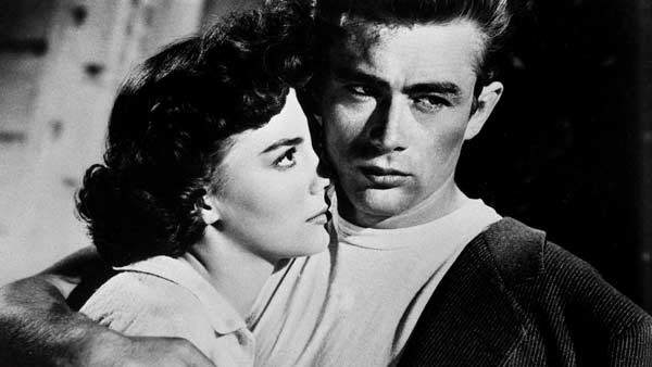 "Natalie Wood y James Dean, en ""Rebelde sin causa"""