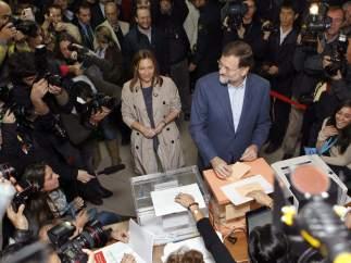 Mariano Rajoy y su mujer, Elvira Fernández