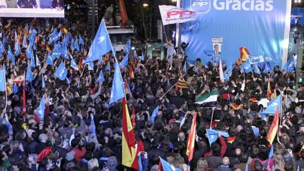 Celebración del PP en Génova