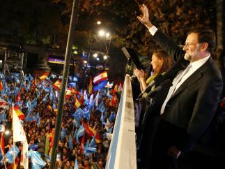 Rajoy celebra la victoria