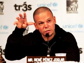 """René Pérez """"residente"""", de Calle 13."""