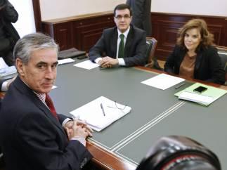 Ramón Jáuregui y Soraya Sáenz de Santamaría