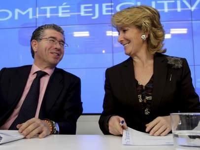 Esperanza Aguirre y Francisco Granados