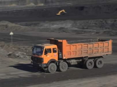Una mina de carbón