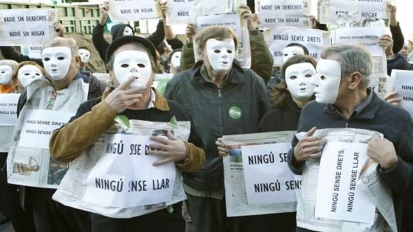 Flashmob contra los desahucios