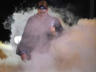 Espectacular entrada de Federer