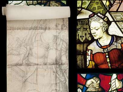 Detail form the window 6  'Judith decapitating  Holofernes'