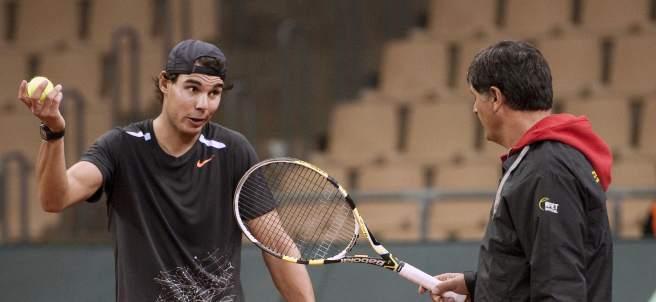 Toni Nadal y Rafa Nadal