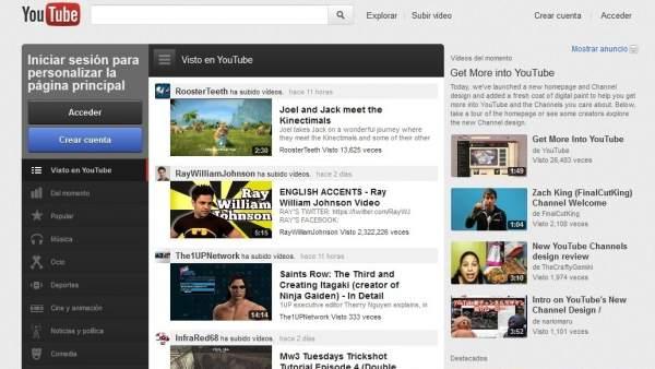 Nuevo rediseño de Youtube