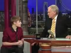Justin Bieber, con Letterman