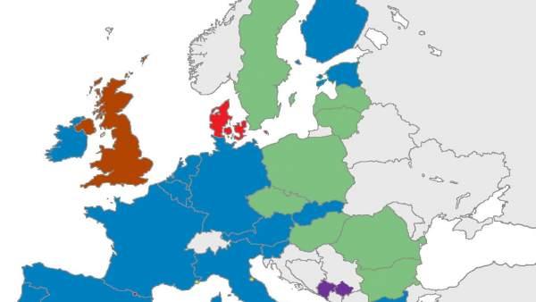 Los países de la UE fuera de la moneda única