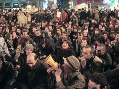 Protesta por el desalojo del hotel Madrid
