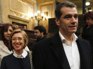 Toni Cantó ocupa su sillón en el Congreso