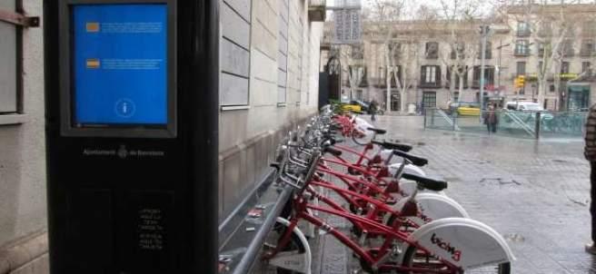 El Bicing de Barcelona.