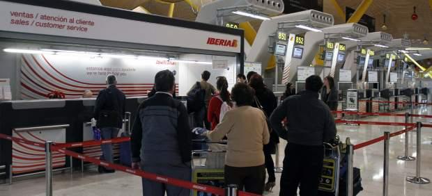 Mostrador de Iberia en Barajas