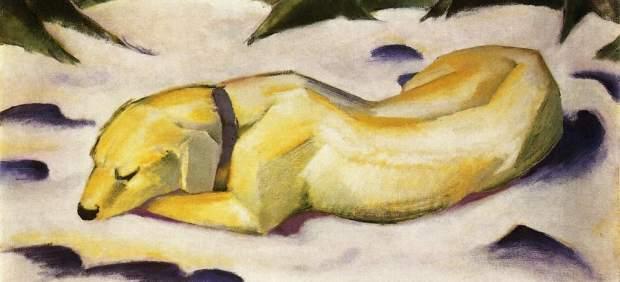 'Perro tumbado en la nieve' (1910-11), de Franz Marc