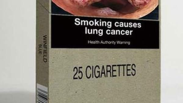 Cajetilla de tabaco sin marca