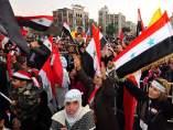 Concentración de simpatizantes de Bachar Al Assad