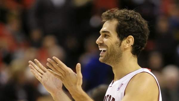 El español Calderón, jugador de los Raptors