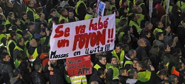 Protesta contra los recortes en seguridad