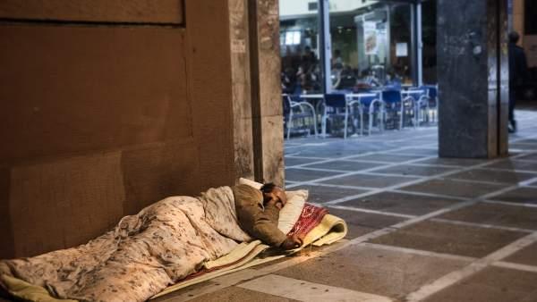 'Sin techo' en Grecia