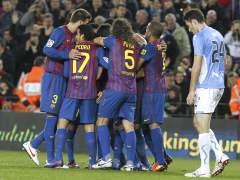 El Barcelona celebra ante Osasuna