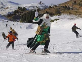 Los Reyes Magos, esquiando