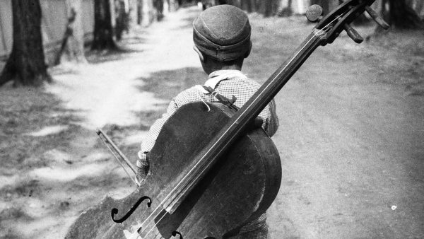 'Junge mit Cello', Balaton, Ungarn, 1931