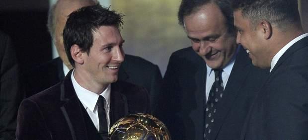 Messi, Platini y Ronaldo