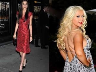 Christina Aguilera y Demi Moore