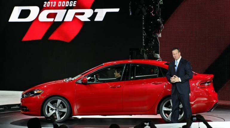 Nuevo Dodge Dart 2013, en Detroit. El jefe de ventas de Estados Unidos del grupo Dodge, Reid Bigland, presenta el nuevo Dodge Dart 2013, en el Salón Internacional del Automóvil de Detroit, en Detroit, Michigan, Estados Unidos.
