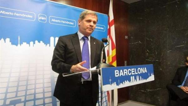 Alberto Fernández Díaz, líder del PP en el Ayuntamiento de Barcelona.