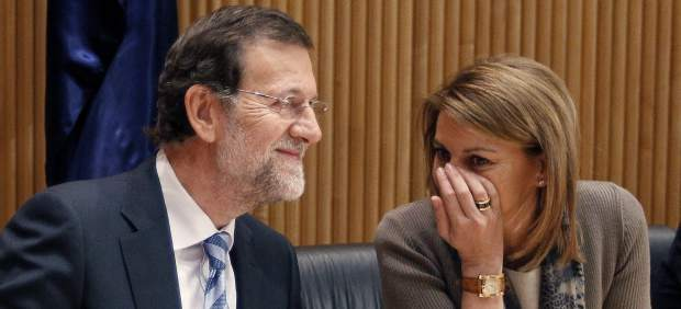 Mariano Rajoy y Mar�a Dolores de Cospedal