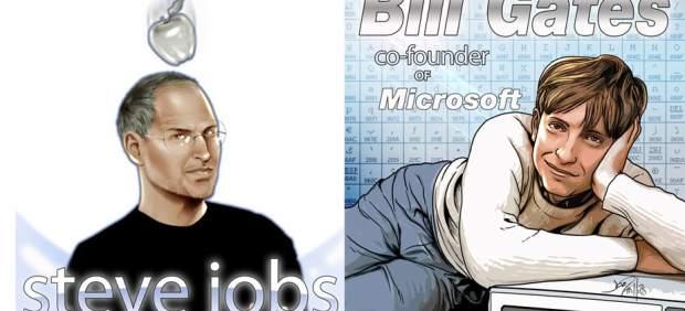 Steve Jobs y Bill Gates saltan al cómic