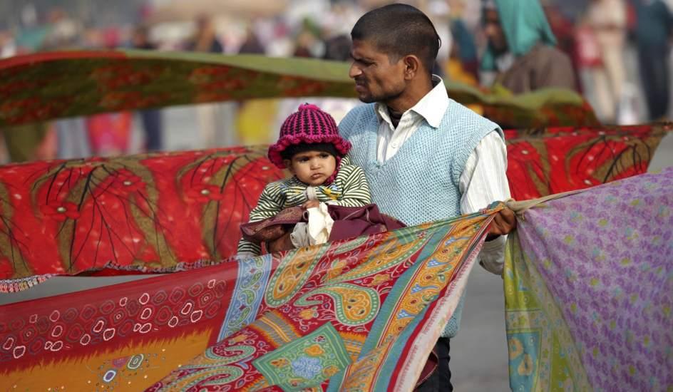 Los hindúes su festividad del 'Makar Sakranti'