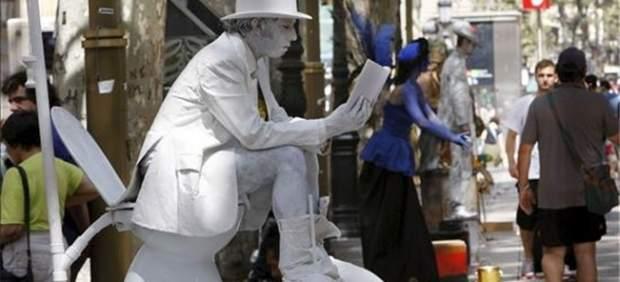 Estatua humana.