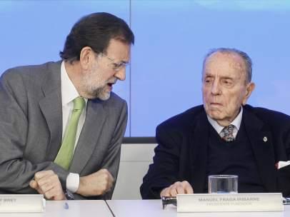 Manuel Fraga con Rajoy
