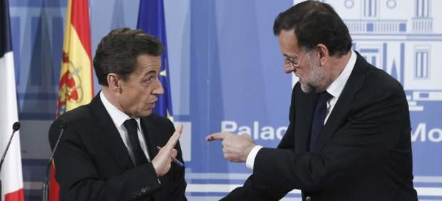 Mariano Rajoy y Nicolas Sarkozy