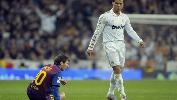La mirada de Cristiano hacia Messi