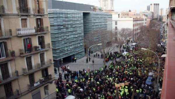 Manifestación de Mossos.