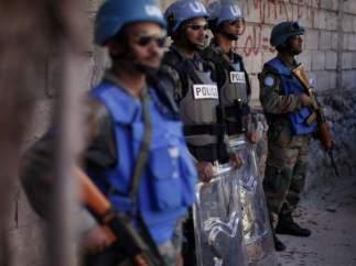 Policías de la ONU en Haití