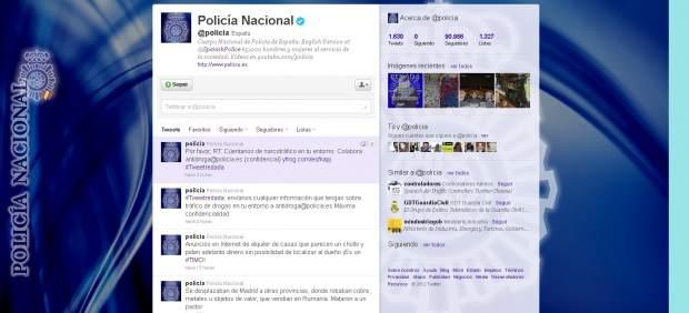 Twitter de la Polic�a Nacional