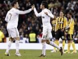 Kaká y Cristiano ante el Zaragoza