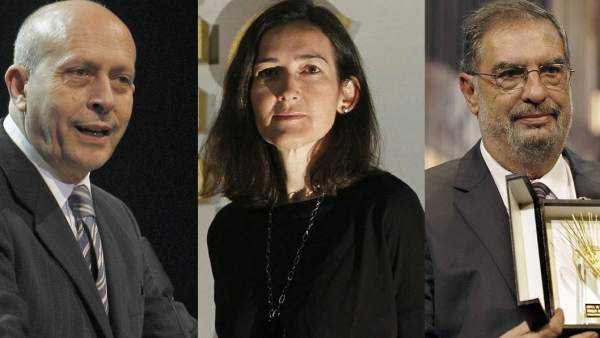 José Ignacio Wert, Ángeles González-Sinde y Enrique González Macho