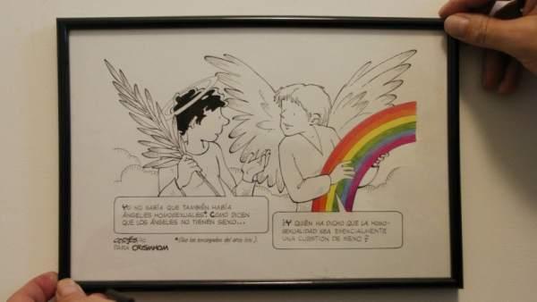 Viñeta sobre la homosexualidad de los Ángeles