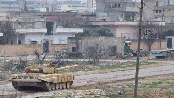 Tanque en Homs